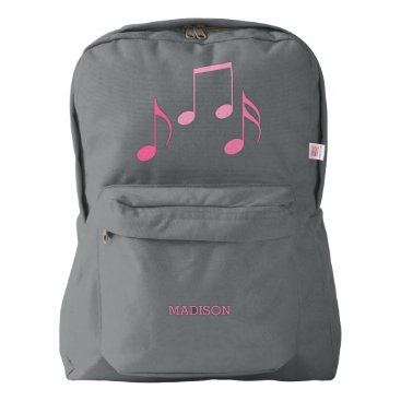 heartlocked Pretty Music Notes Backpack