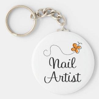 Pretty Nail Artist Gift Keychain