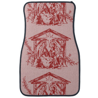 pretty nativity red outline_edited-1 car mat