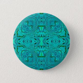 Pretty Neon Aquamarine Tribal Pattern Pinback Button