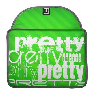 Pretty; Neon Green Stripes MacBook Pro Sleeve