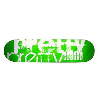 Pretty; Neon Green Stripes Custom Skateboard