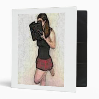 pretty nerdy school girl binder