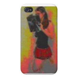 pretty nerdy school girl iPhone 4 case