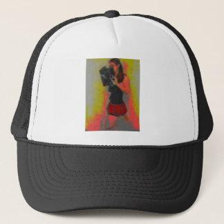 pretty nerdy school girl trucker hat