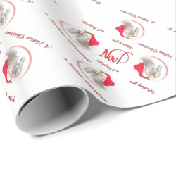 Pretty Noel Nubian Goat Christmas Wrapping Paper