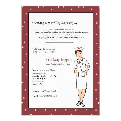 Personalized nursing school graduation invitations pretty nurse graduation invitation filmwisefo