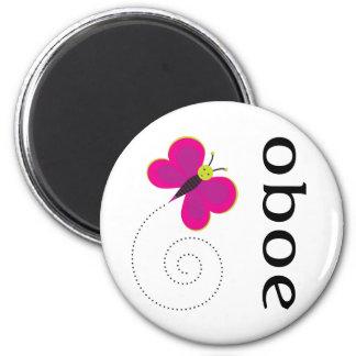 Pretty Oboe Gift 2 Inch Round Magnet