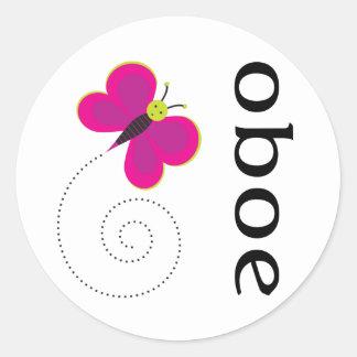 Pretty Oboe Gift Classic Round Sticker