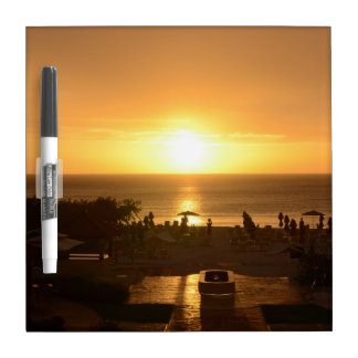 Pretty Ocean Sunset Dry-Erase Board