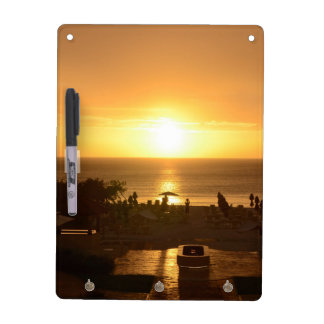 Pretty Ocean Sunset Dry Erase White Board