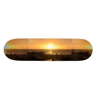 Pretty Ocean Sunset Custom Skate Board