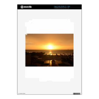 Pretty Ocean Sunset Decal For iPad 2