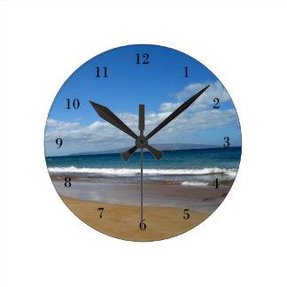 Pretty Ocean Tide Round Clocks