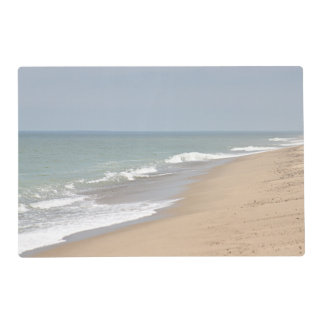 Pretty ocean waves and beach placemat