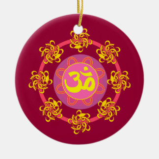 Pretty Om symbol ornament