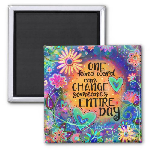 Pretty One Kind Word Magnet