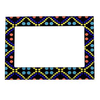 Pretty Orage Blue Polka Dots Photoframen Magnetic Picture Frame