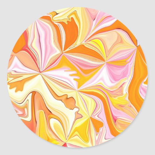 Pretty Orange Abstract Art Sticker