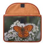 Pretty Orange Butterfly MacBook Pro Sleeve