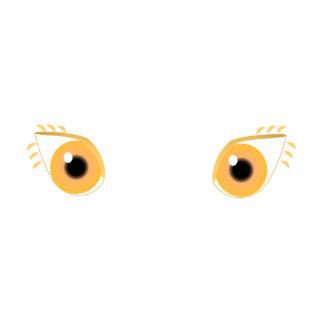 Pretty Orange Eyes Photo Sculpture