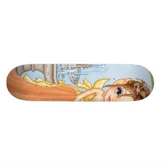 Pretty Orange Faery Pixel Art Skate Boards
