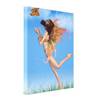Pretty Orange Fairy in Sunshine Canvas Print
