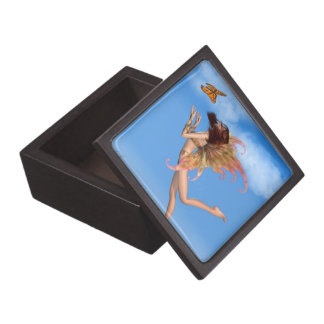 Pretty Orange Fairy in Sunshine Gift Box