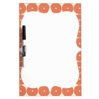 Pretty Orange Melon Circles Textured Disks Pattern Dry Erase Board