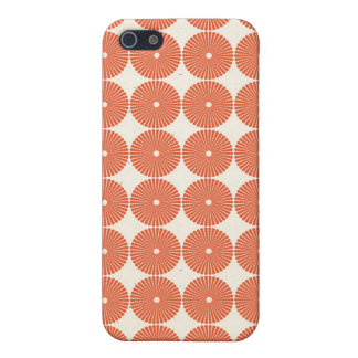Pretty Orange Melon Circles Textured Disks Pattern iPhone SE/5/5s Cover
