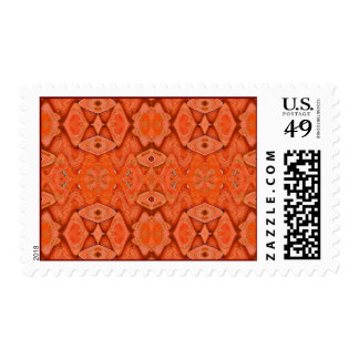 pretty orange postage