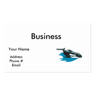 pretty orca killer whale business cards