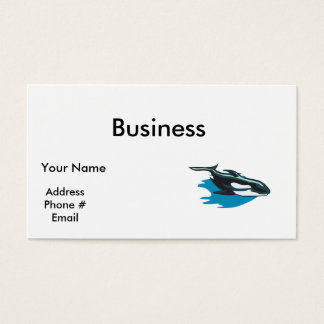 pretty orca killer whale business card