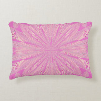 Pretty Orchid Purple Beautiful Abstract Flower Accent Pillow