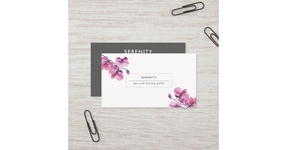 Pretty Orchids Feminine Business Card | Zazzle.com