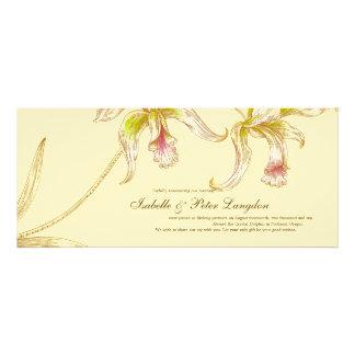Pretty Orchids Wedding Announcement Card