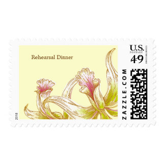 Pretty Orchids Wedding Rehearsal Dinner Postage