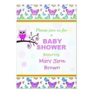 Pretty Owl Baby Shower Card