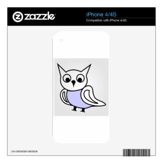 Pretty owl iPhone 4S decals