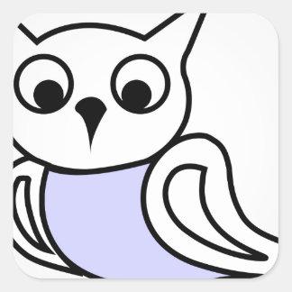 Pretty owl square sticker