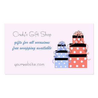 Pretty Packages Gift Shop Business Card