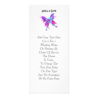 Pretty Paint Splatter Butterfly Peronalized Rack Card