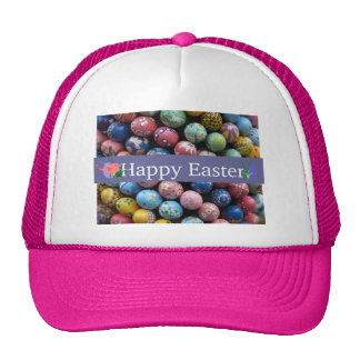Pretty Painted Eggs Hat