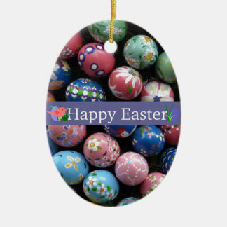 Pretty Painted Eggs Christmas Ornament