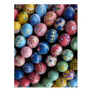 Pretty Painted Eggs Postcard