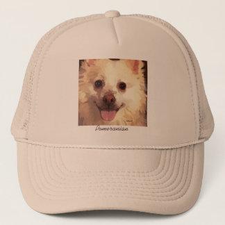 Pretty Painted Pomeranian Face Cap