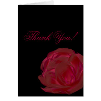 Pretty Painted Red Rose Art Card