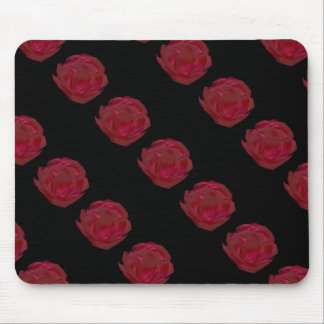 Pretty Painted Red Rose Art Mouse Pad