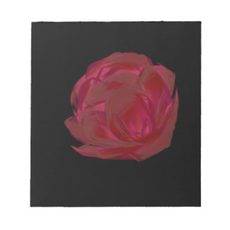 Pretty Painted Red Rose Art Note Pad