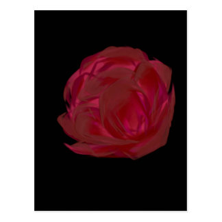 Pretty Painted Red Rose Art Postcard